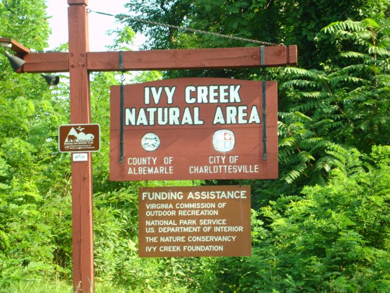 Ivy Creek Sign
